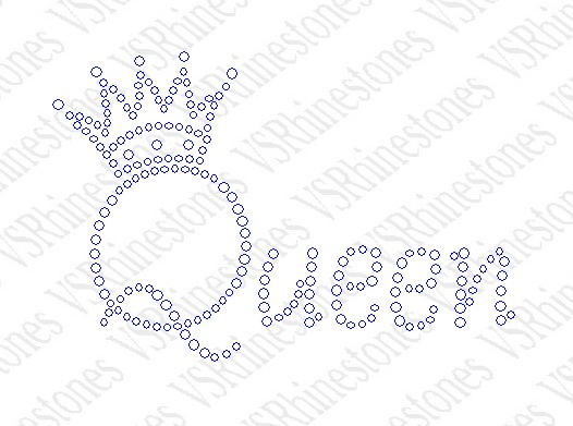 Queen - crown Rhinestone Transfer
